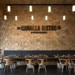 Restaurant's Wooden Wall -treatment-wood-panelingDesign